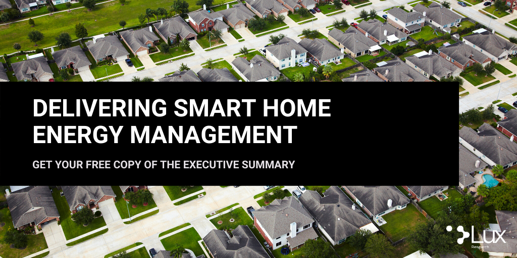 OVER $5 BILLION IN INVESTMENTS FOCUSED ON THE HOME ENERGY MANAGEMENT SYSTEM, ACCORDING TO LUX RESEARCH